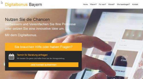 Digitalbonus Bayern - ein Informationsservice der WOGRA - Augsburg